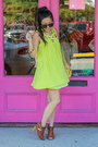 Brown-booties-amiclubwear-boots-lime-green-boutique-dress