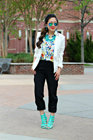 black jogger UME pants - white Bluetique Cheap Chic blazer