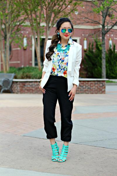 black jogger UME pants - white Bluetique Cheap Chic blazer