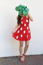 red Forever 21 dress - red wedges Prabal Gurung for Target sandals
