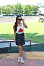 Brown-karen-walker-sunglasses-white-amiclubwear-heels