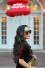 Crimson-impressions-boutique-dress-gold-clutch-accessory-jane-bag
