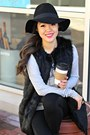 Black-ankle-boots-impressions-boutique-boots-black-forever-21-hat