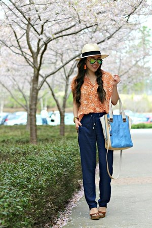 navy jogger Whimsy Boutique pants - eggshell Forever 21 hat