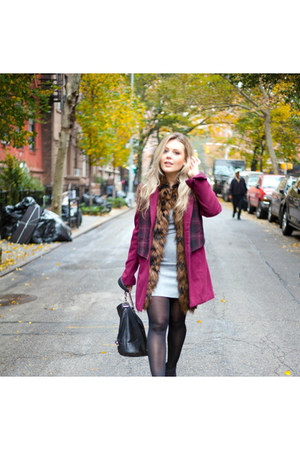 H&M hat - Express boots - Theory dress - Urban Outfitters coat - H&M tights