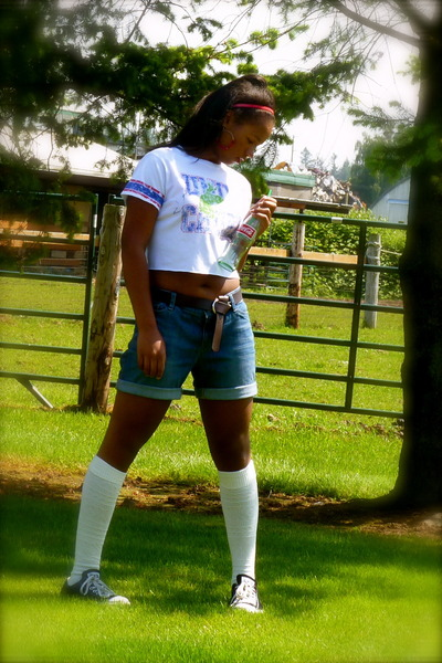 f51a4df0ea01b0 knee high socks stockings - boyfriend jeans shorts - converse sneakers