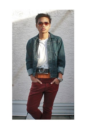 brick red denim Topman jeans