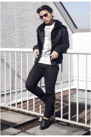 black skinny Topman jeans - black bomber Topman jacket