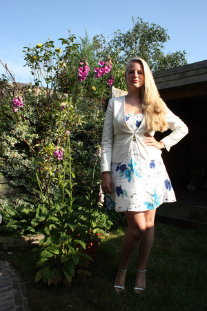 white H&M blazer - white Vila dress