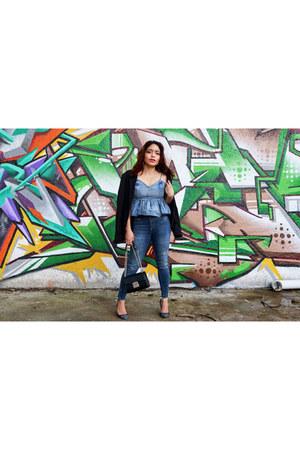 Bershka blazer - Zara jeans - Bershka bag