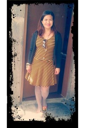 black stretch unknown brand blazer - gold random brand dress
