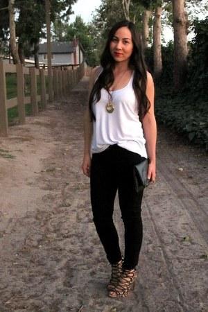 American Rag top - leopard Zara shoes - black Gap jeans