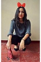 Zara sweater - jeggings Zara leggings - Zara bag - Zara heels