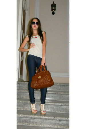Koton purse - random brand shoes - Koton top - Mango accessories