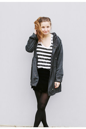 New Yorker jacket - second hand top - second hand skirt