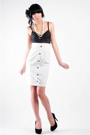 Zara top - Bebe skirt - Aldo shoes - Mango necklace