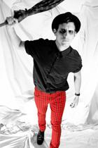 Zara pants - rag & bone shirt - Hugo Boss shoes - vintage hat - Guess bracelet