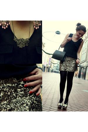 Zara dress - vintage bag - Zara heels - Primark earrings