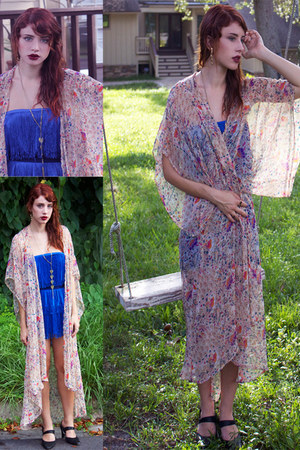 blue flapper dress Gypsy Gamine Vintage dress - light pink Kimchi Blue intimate