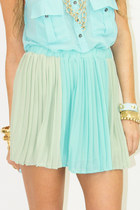 aquamarine chiffon HAUTE & REBELLIOUS skirt