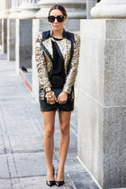 black HAUTE & REBELLIOUS skirt - gold HAUTE & REBELLIOUS jacket