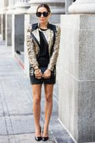 black HAUTE & REBELLIOUS skirt - gold HAUTE & REBELLIOUS jacket