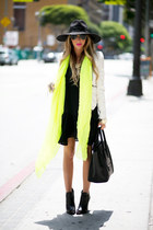 lime green neon HAUTE &amp; REBELLIOUS scarf
