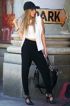 black HAUTE & REBELLIOUS leggings - black HAUTE & REBELLIOUS bag