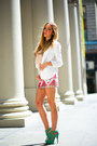 Coral-haute-rebellious-skirt-white-fitted-blazer-haute-rebellious-blazer