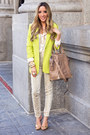Yellow-haute-rebellious-blazer-tan-haute-rebellious-bag