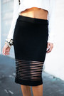 Black-pencil-wool-haute-rebellious-skirt