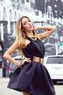 Black-haute-and-rebellious-dress-gold-haute-and-rebellious-necklace