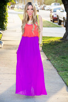 amethyst chiffon HAUTE & REBELLIOUS dress