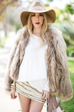 camel HAUTE & REBELLIOUS hat - light brown HAUTE & REBELLIOUS boots
