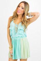 aquamarine chiffon HAUTE  & REBELLIOUS blouse