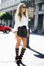 leather skirts HAUTE & REBELLIOUS skirt - trapeze Celine bag
