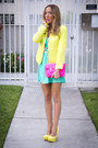 Aquamarine-haute-rebellious-dress-yellow-zara-jacket