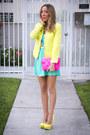 Aquamarine-haute-rebellious-dress-yellow-zara-jacket