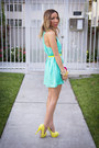 Yellow-zara-jacket-aquamarine-haute-rebellious-dress