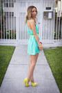 Yellow-zara-jacket-aquamarine-haute-rebellious-dress