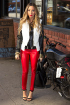 red HAUTE & REBELLIOUS leggings - white HAUTE & REBELLIOUS jacket