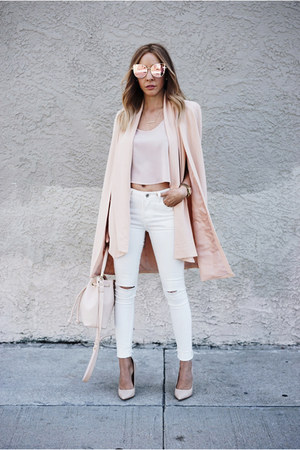 blush HAUTE & REBELLIOUS blazer - high waisted HAUTE & REBELLIOUS jeans