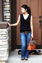 AG Adriano Goldschmied jeans - HEIDIS  HEIDI CHEN bag - belt - calvin klein blou
