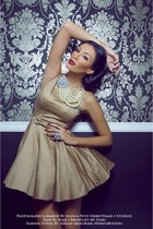 beige Heiress dress