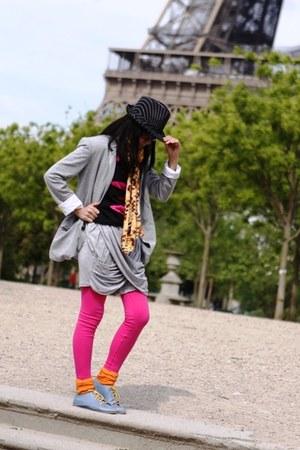 Zara blazer - unbranded leggings - Picnic skirt - unbranded shirt