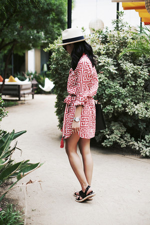 boyfriend shirt Plum Pretty Sugar dress - panama JCrew hat