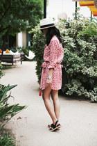 boyfriend shirt Plum Pretty Sugar dress - panama JCrew hat