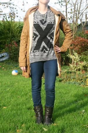 sweater H & M sweater - bikerboots De Schoenenreus boots