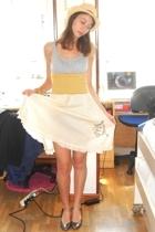 Primark hat - H&M t-shirt - Fornarina skirt - Rodo shoes