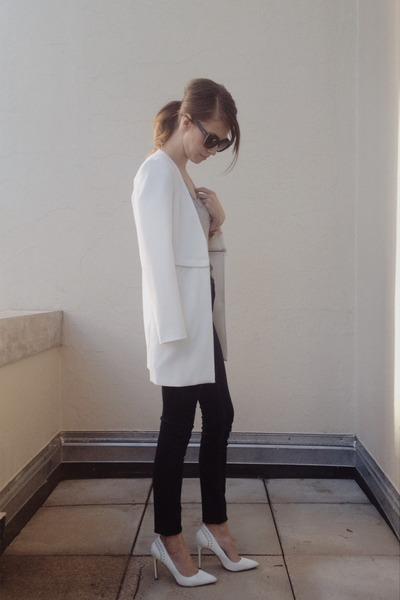 boyfriend Front Row Shop blazer - BDG jeans - kitti cat eye quay sunglasses